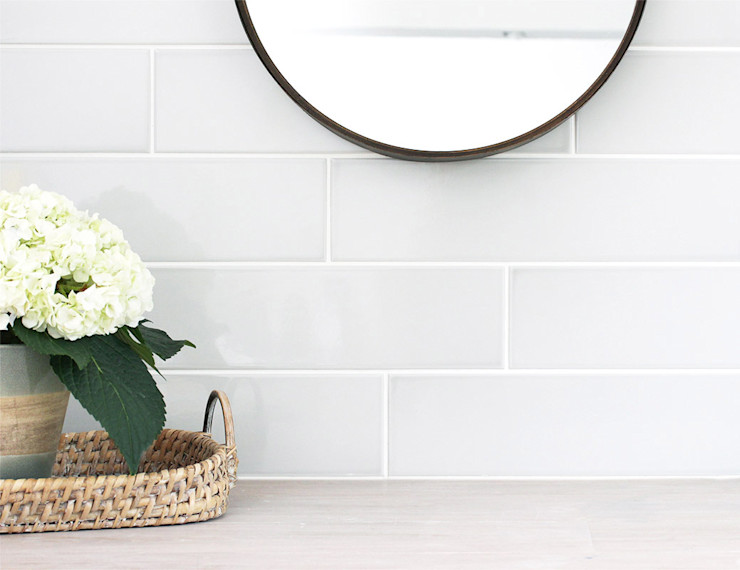 Evolution Large Flat Metro Tiles homify Walls & flooringTiles