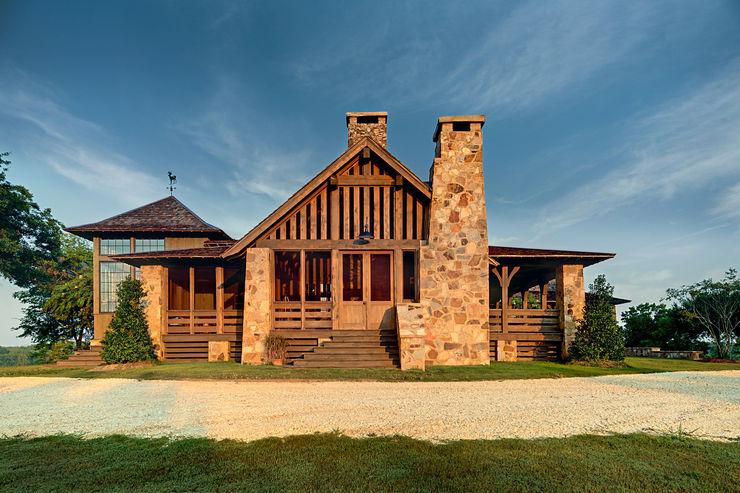 Jeffrey Dungan Architects Country style house Stone Beige