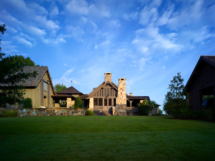 Jeffrey Dungan Architects Country style house Stone Green
