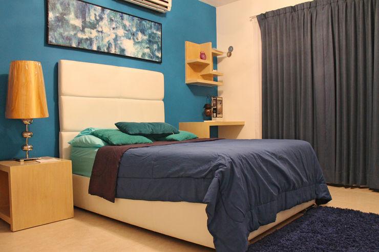 Diseño interior Recámara 1 Constructora Asvial - Desarrollador Inmobiliario DormitoriosAccesorios y decoración Compuestos de madera y plástico Azul