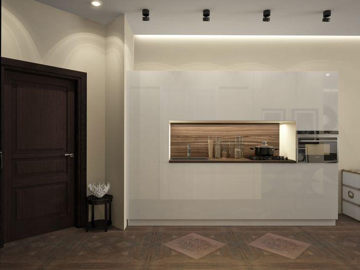 townhouse in modern style Rubleva Design Modern Kitchen