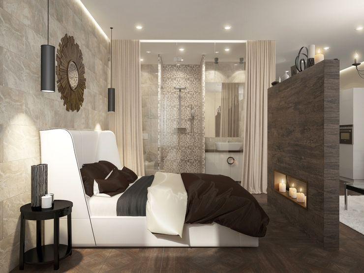 townhouse in modern style Rubleva Design Modern Bedroom