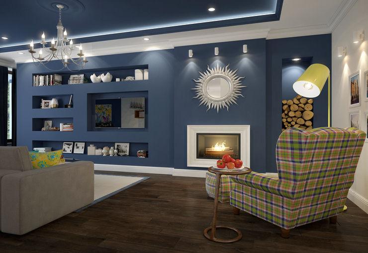 Rubleva Design غرفة المعيشة