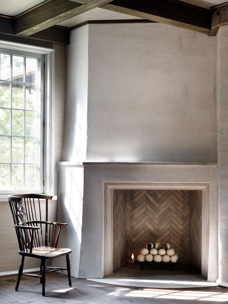 Jeffrey Dungan Architects Rustic style study/office Stone White