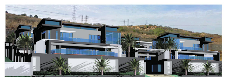Urban Residencial Hyperrealistic Architectural Studio Modern houses