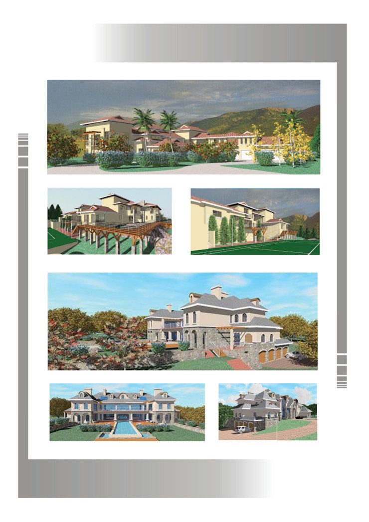 Mansions Hyperrealistic Architectural Studio Country style houses