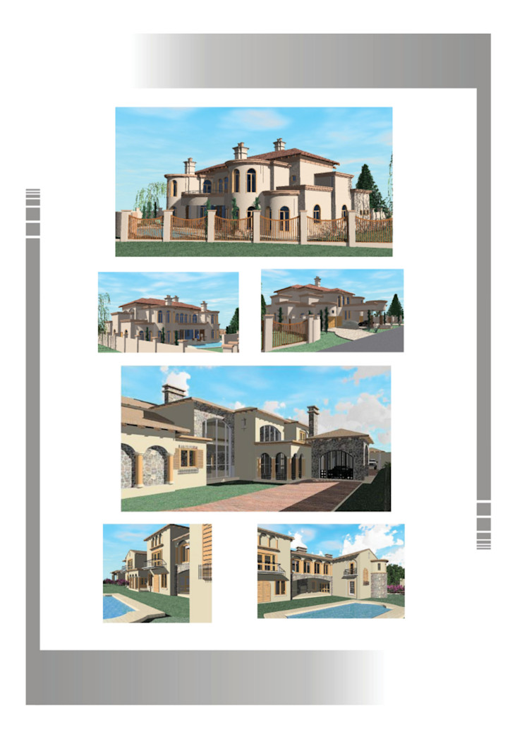 Mansions Hyperrealistic Architectural Studio Rustic style houses