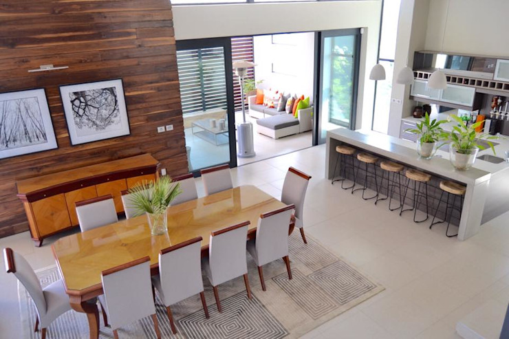 Nowadays Interiors Ruang Makan Modern Kayu Grey
