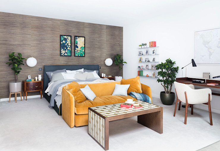Modern New Home in Hampstead - master bedroom Black and Milk | Interior Design | London BedroomBeds & headboards