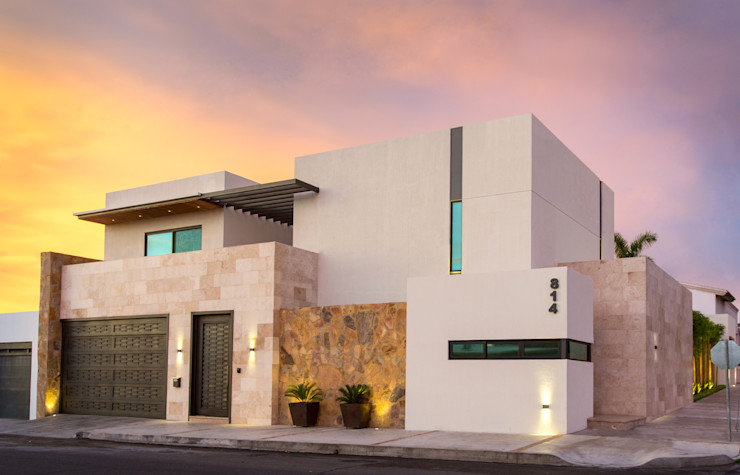 Casa GM Grupo Arsciniest Casas de estilo moderno Mármol Blanco
