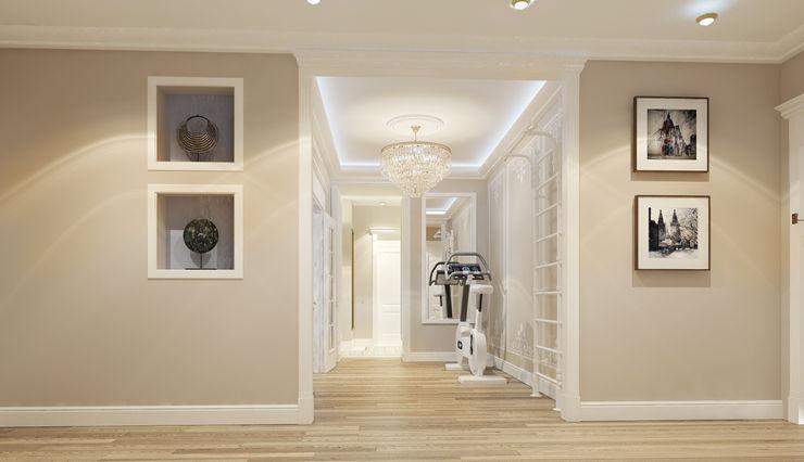 Vera Rybchenko Classic style corridor, hallway and stairs Beige