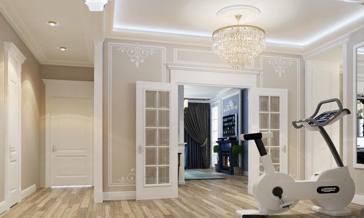 Vera Rybchenko Classic style corridor, hallway and stairs MDF Beige