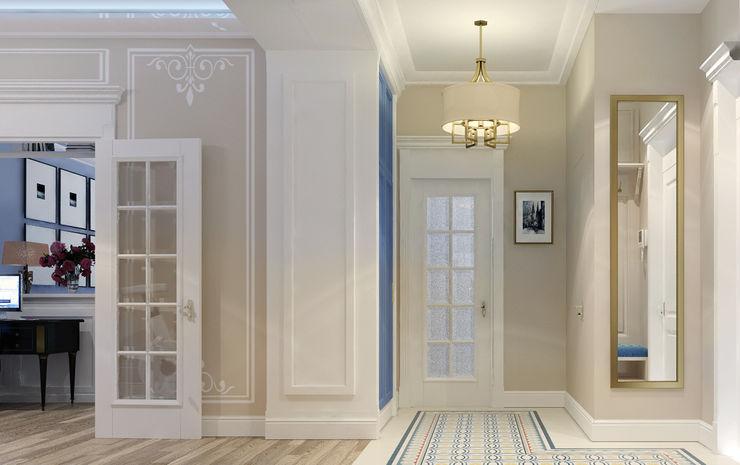 Vera Rybchenko Eclectic style corridor, hallway & stairs