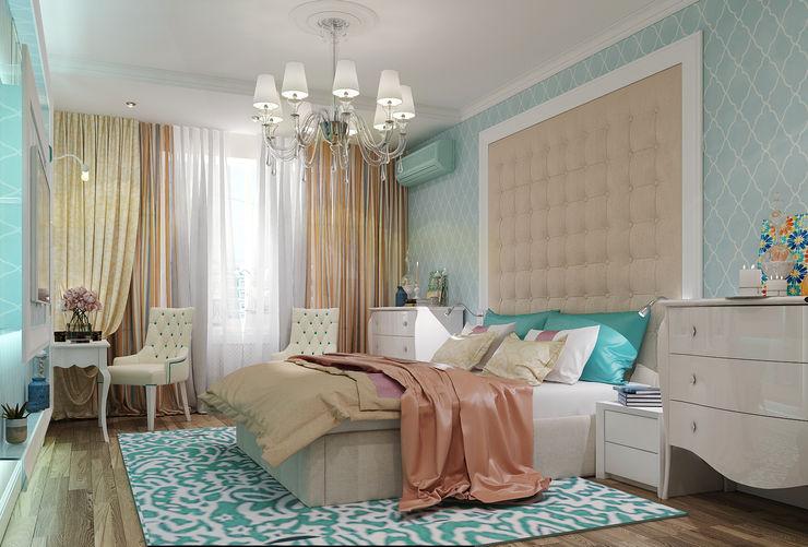 Vera Rybchenko Modern Bedroom MDF Turquoise