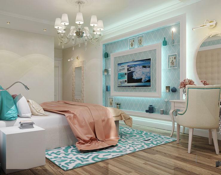 Vera Rybchenko Modern Bedroom Turquoise