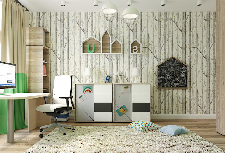 Vera Rybchenko Nursery/kid's room Beige