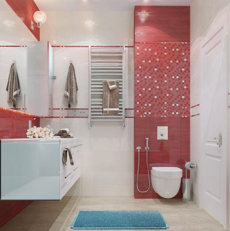 Vera Rybchenko Modern Bathroom Red