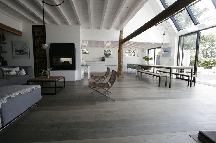 Woonboerderij / Stolpenboerderij Van der Schoot Architecten bv BNA Landelijke woonkamers Hout Hout