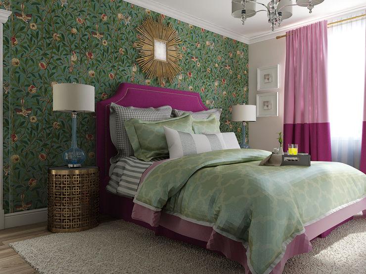 Vera Rybchenko Eclectic style bedroom Green