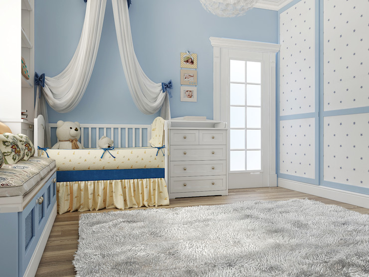 Vera Rybchenko Nursery/kid's room Blue
