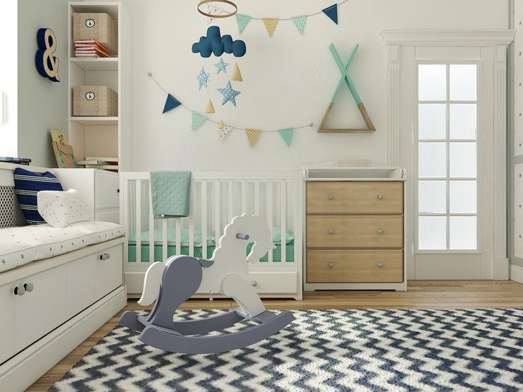 Vera Rybchenko Nursery/kid's room Grey