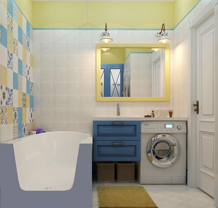 Vera Rybchenko Mediterranean style bathrooms Yellow
