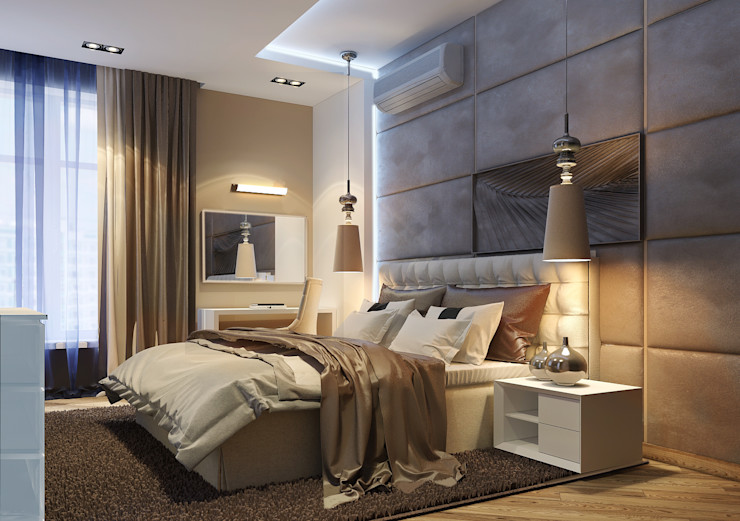 Vera Rybchenko Modern Bedroom Beige