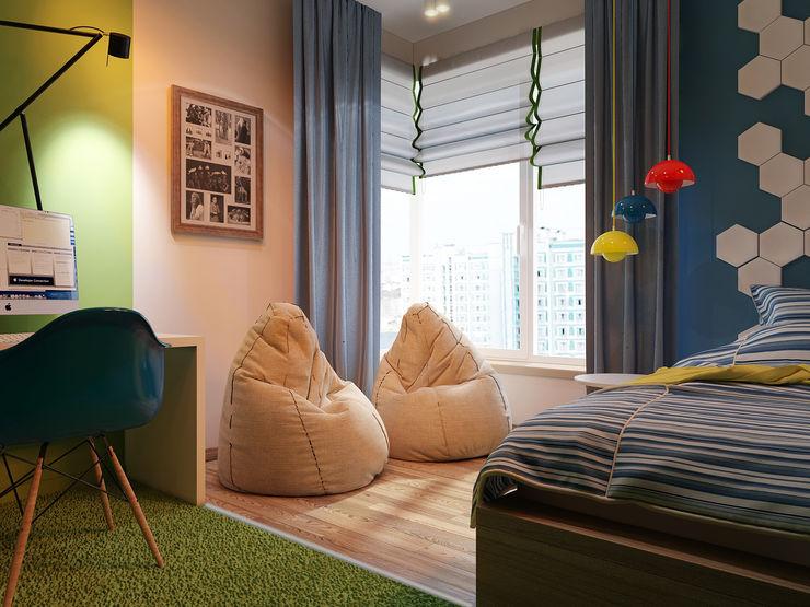 Vera Rybchenko Modern Kid's Room Blue