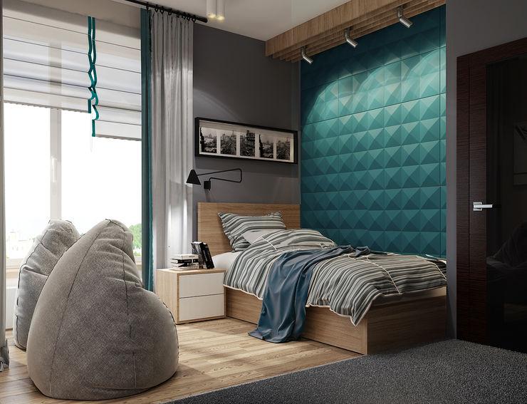 Vera Rybchenko Modern Kid's Room Turquoise