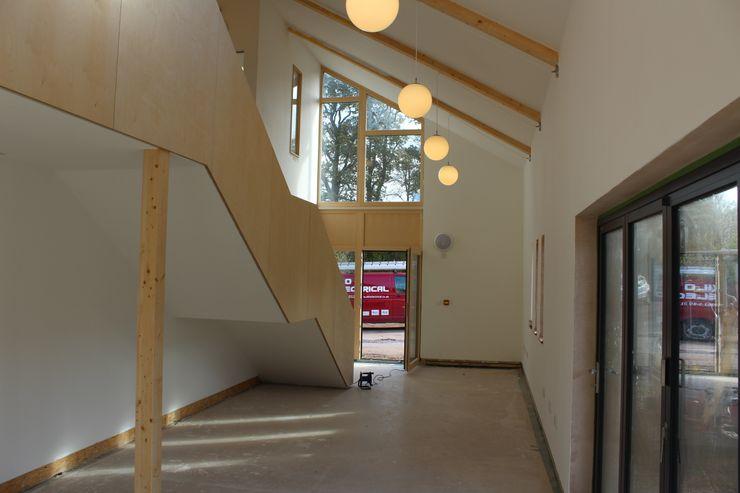 Solarsense Zero Carbon Home Askew Cavanna Architects Modern corridor, hallway & stairs