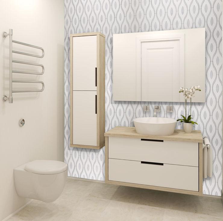 Chandelier Elalux Tile Modern Bathroom Marble White