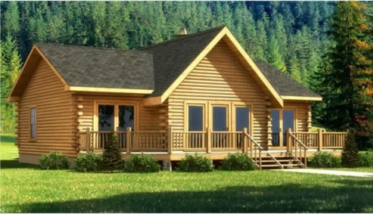 Sukjai Logcabin Partnership Classic office buildings Solid Wood Wood effect
