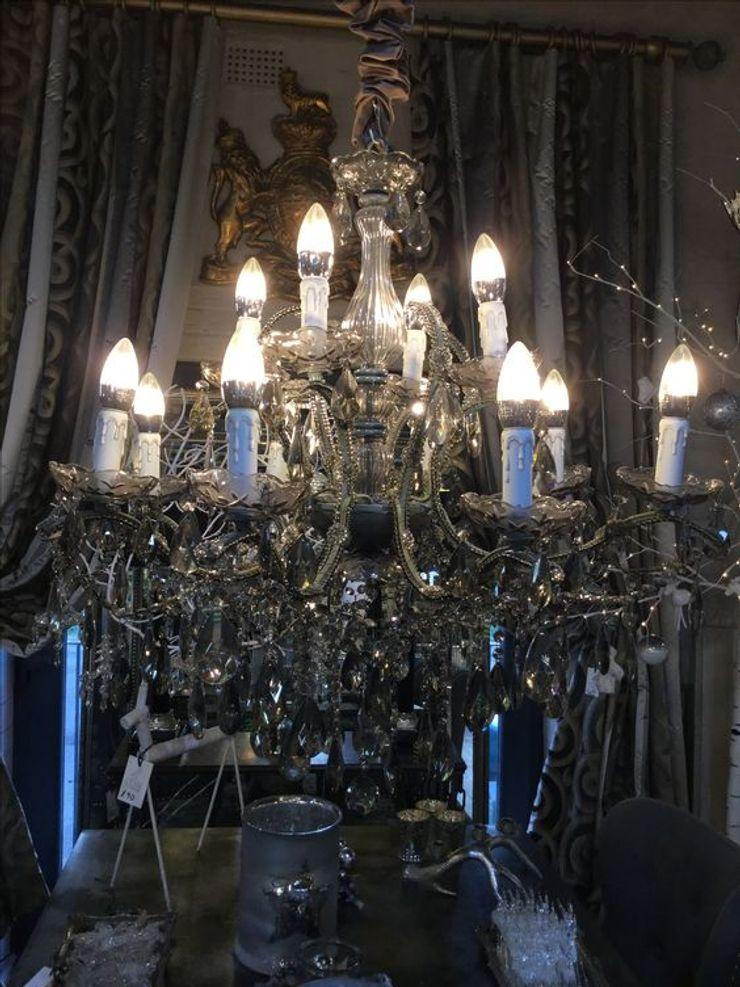 Silver 'Fairytale' Chandelier CCco Interiors BedroomLighting Metallic/Silver