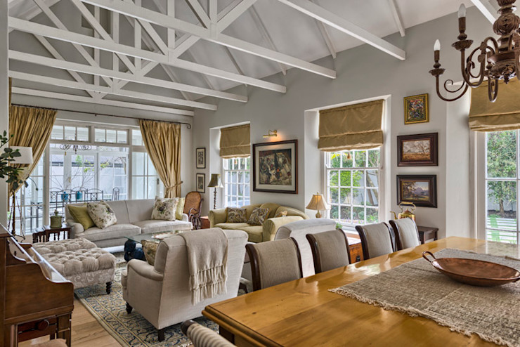 House Couture Interior Design Studio Eclectic style living room