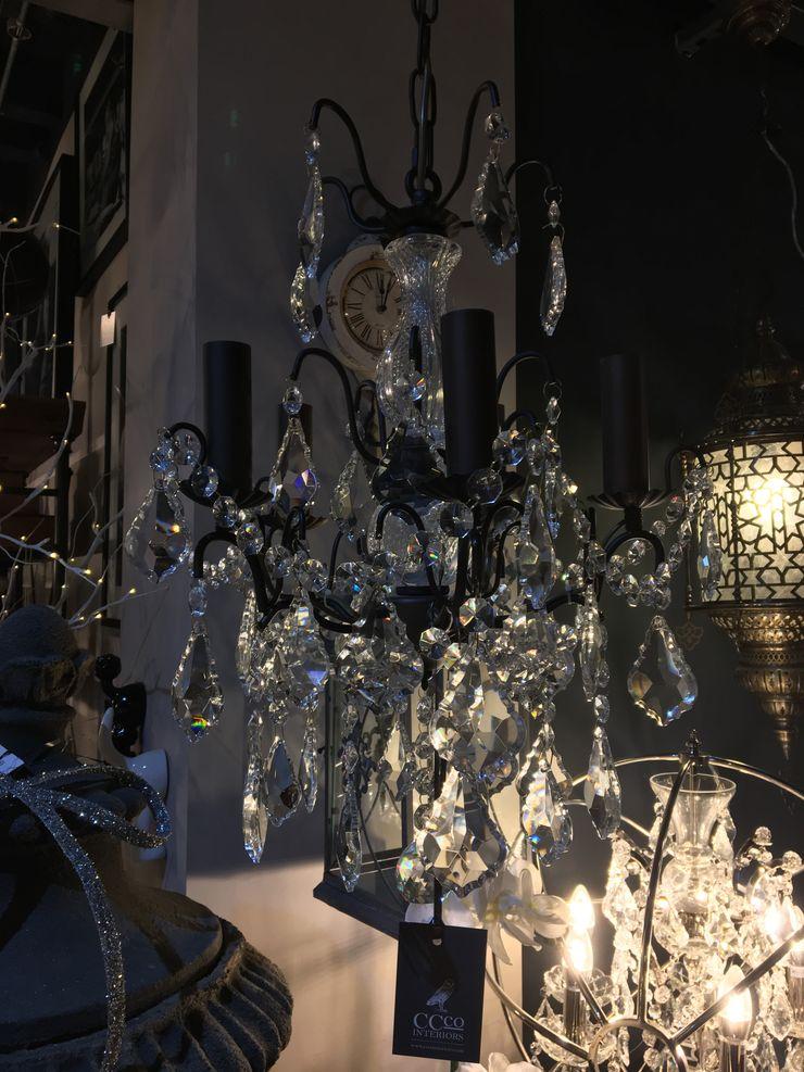 Small Black Branch Chandelier CCco Interiors BedroomLighting Metal