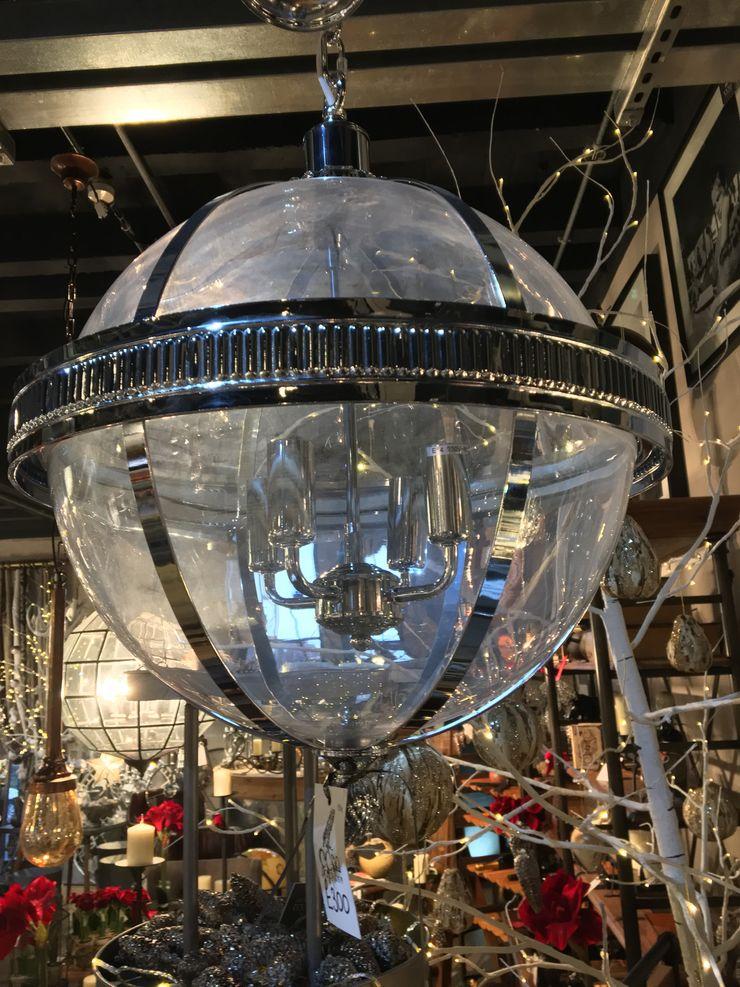 Transparent Globe Light CCco Interiors Study/officeLighting Metal Metallic/Silver