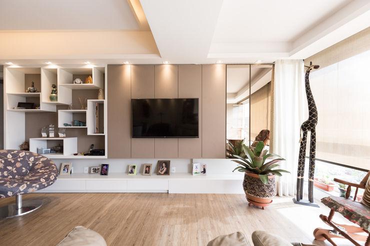 ECP | Estar Kali Arquitetura Salas de estar minimalistas