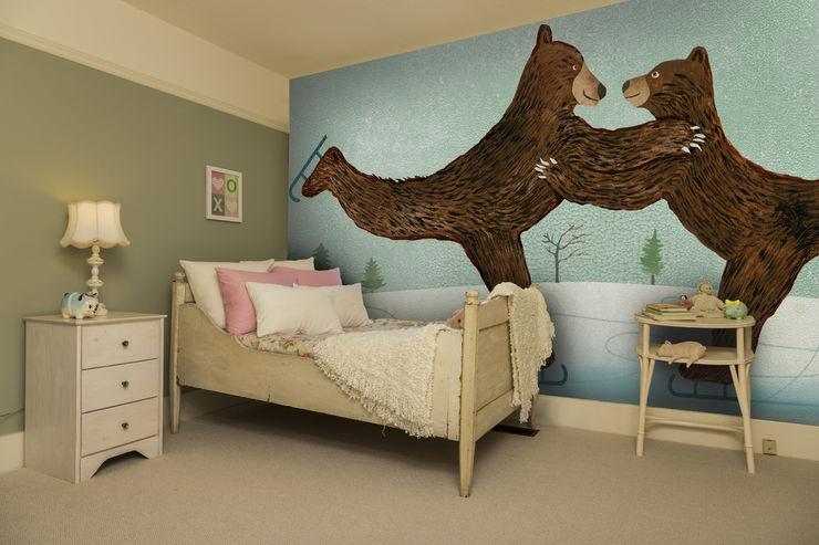 'Coworking' Bear Wallpaper Wallsauce.com Modern Kid's Room