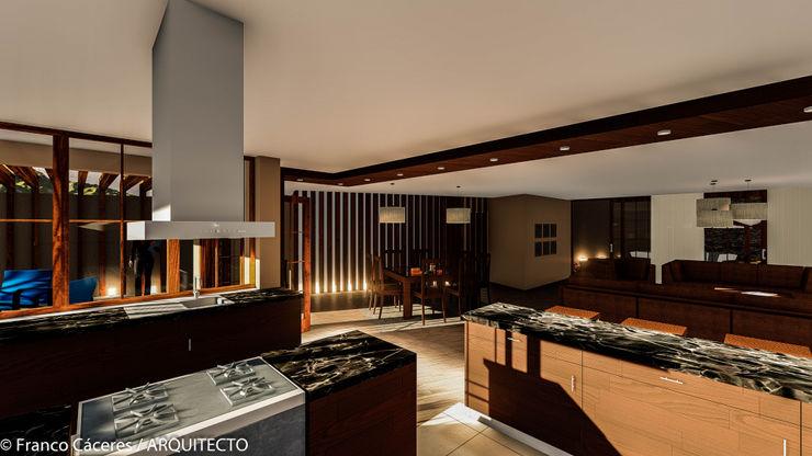 CASA JONES - PROYECTO FRANCO CACERES / Arquitectos & Asociados Cocinas de estilo moderno