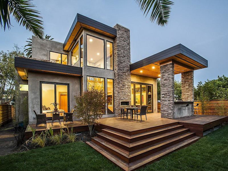 Modern double storey family house homify Modern houses