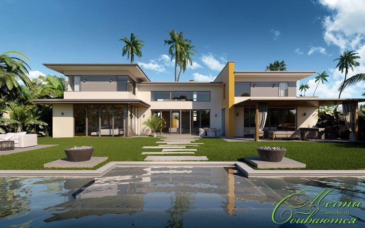 Проект жилого дома в штате Гавайи (США), о. Оаху г. Гонолулу Компания архитекторов Латышевых 'Мечты сбываются' Дома в средиземноморском стиле