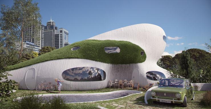 OLA architecten Minimalist houses Reinforced concrete White