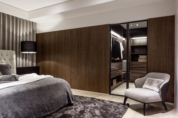 双設計建築室內總研所 Modern Bedroom