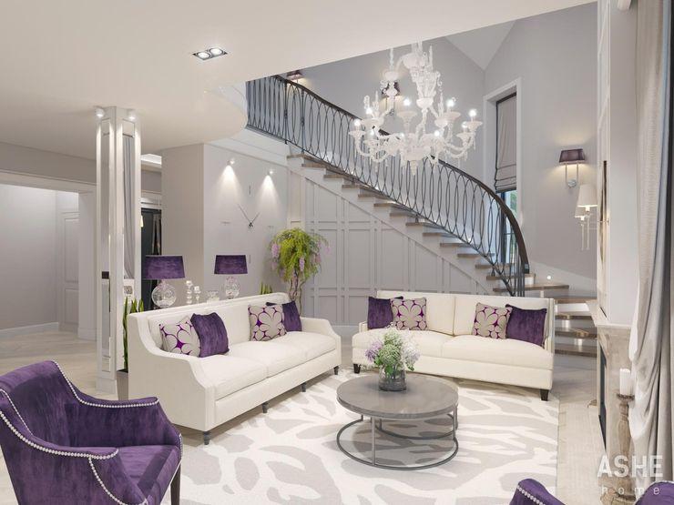 Студия авторского дизайна ASHE Home غرفة المعيشة