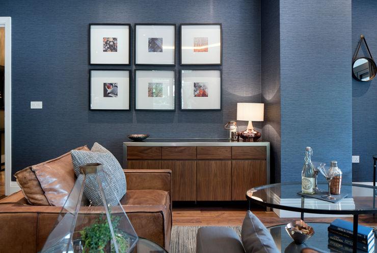 Musewll Hill, London Jigsaw Interior Architecture Phòng khách phong cách chiết trung Blue