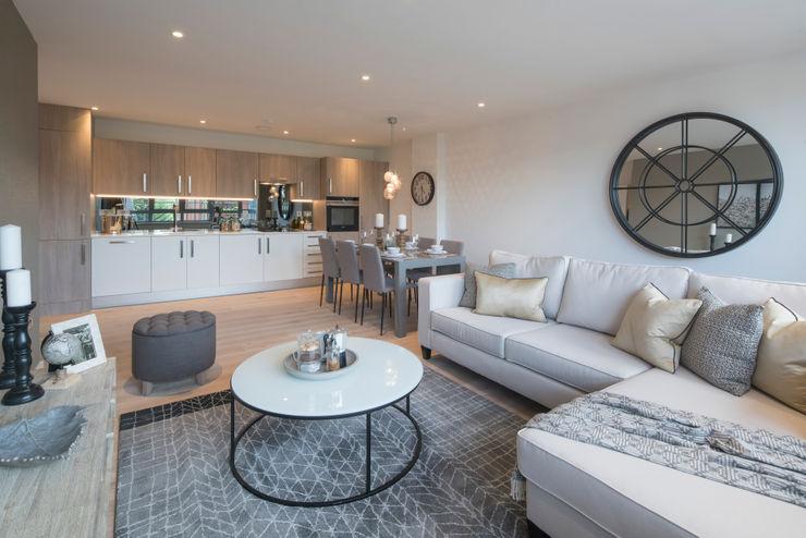 Station Rd, New Barnet Jigsaw Interior Architecture Living room Copper/Bronze/Brass Metallic/Silver