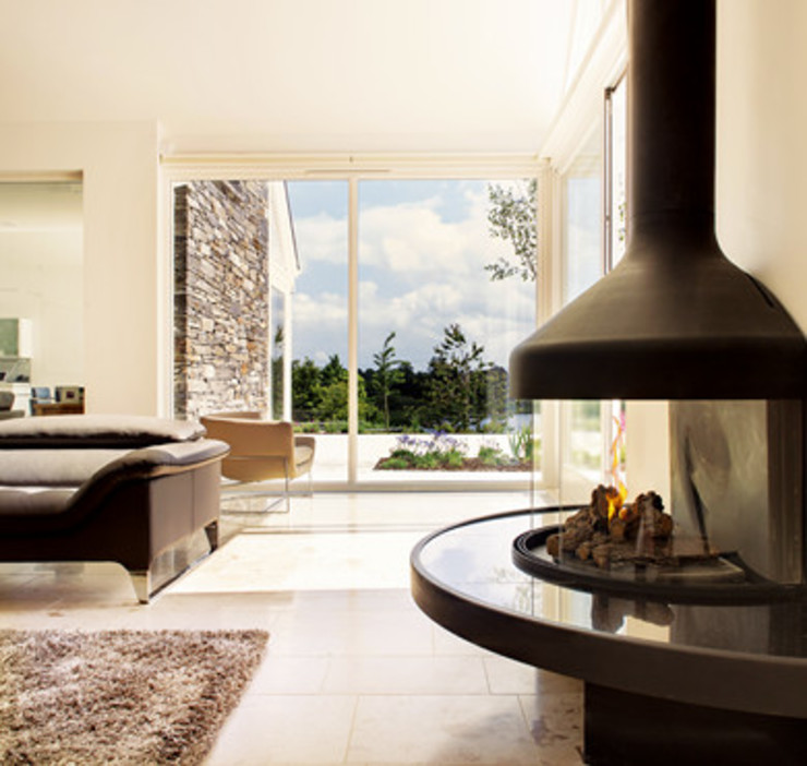 modern living room of modern house in NI Jane D Burnside Architects Modern Living Room