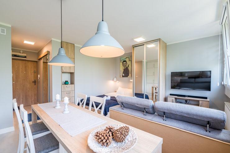 jw architektura Scandinavian style living room