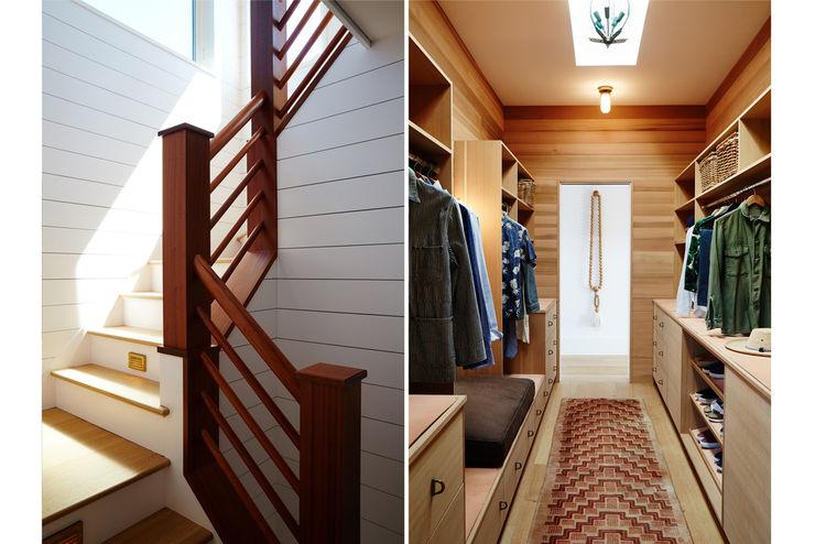 Old Montauk Highway House SA-DA Architecture Modern Corridor, Hallway and Staircase