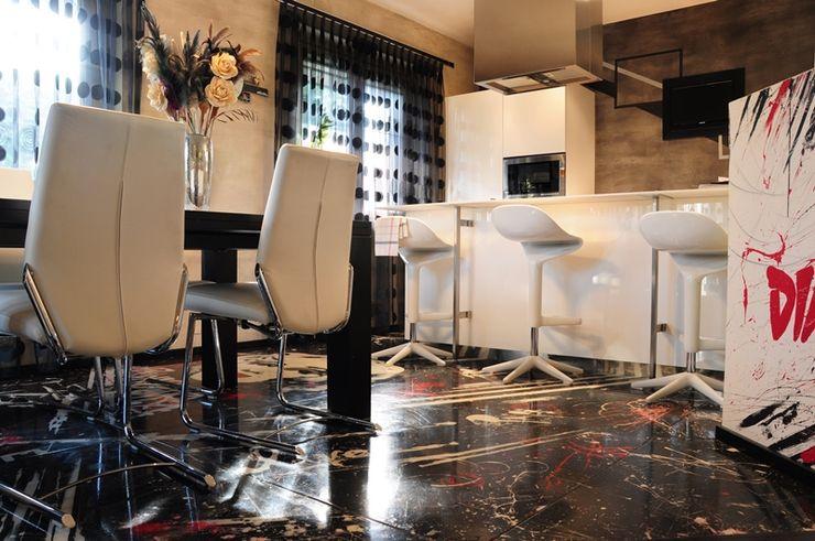 Pavimento in resina decorativo V&V srl Soggiorno moderno